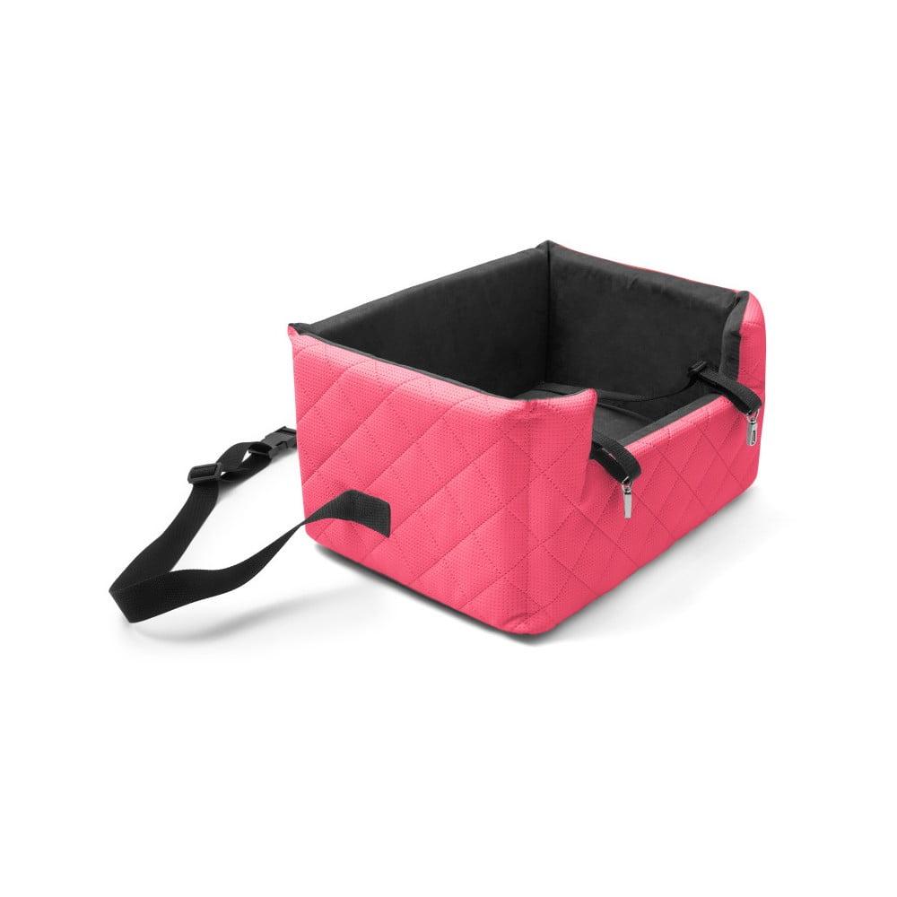Červená přepravní taška pro psa do auta Marendog Travel, 40 x 47 x 25 cm