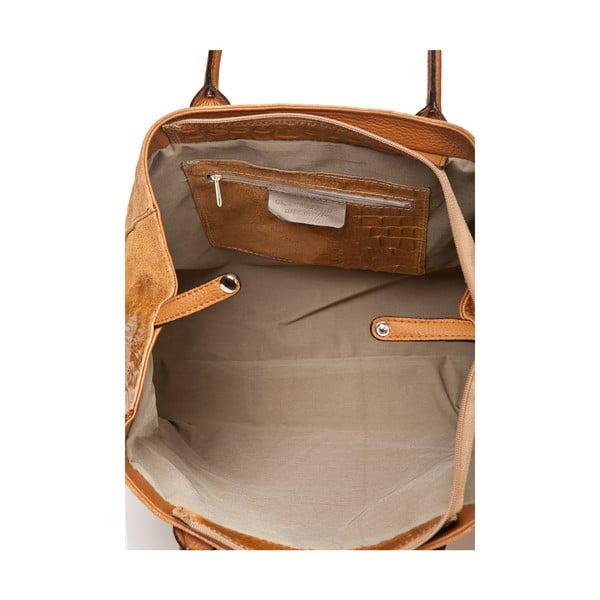 Kožená kabelka Anabela, koňak