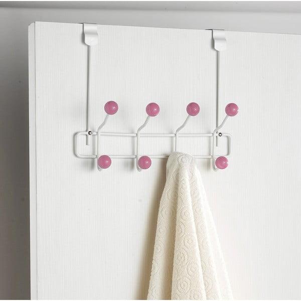 Wieszak na drzwi z 8 haczykami Compactor Balls Pinkie