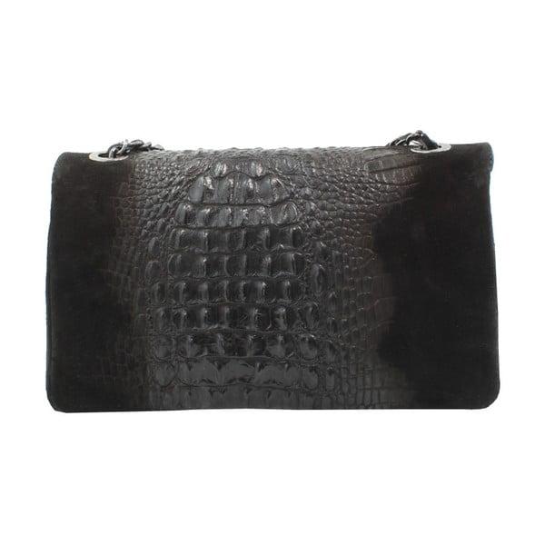 Černá kožená kabelka Chicca Borse Dorine