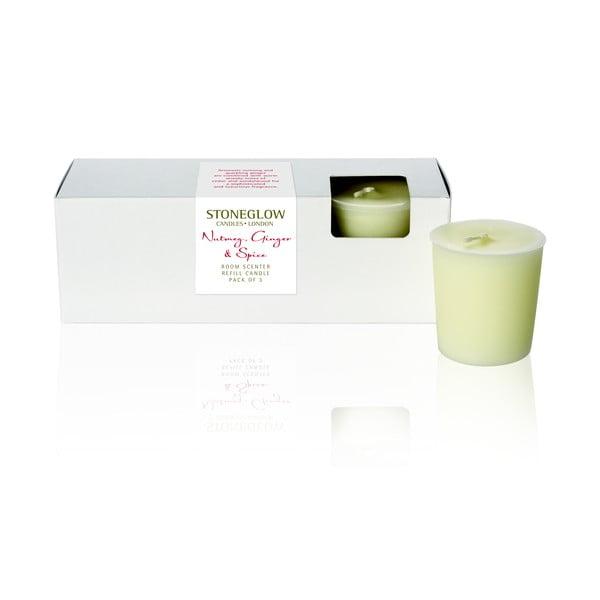 Gyertya és párologtató szerecsendió és gyömbér illattal, ajándékcsomagban - Stoneglow