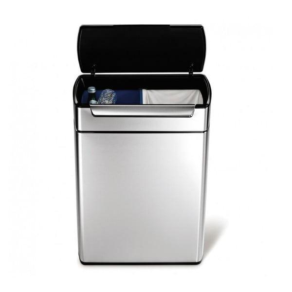 Dotykový odpadkový koš na tříděný odpad simplehuman, 24/24 l