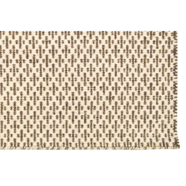 Ručně tkaný koberec Beige Cross Kilim, 160x230 cm