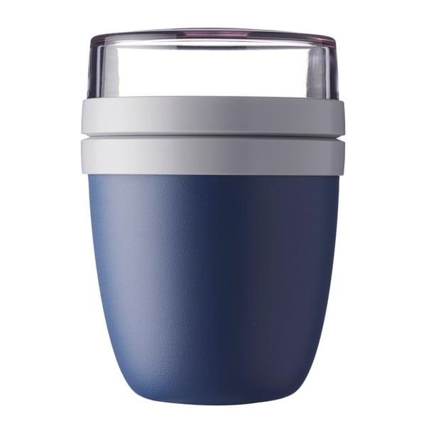 Tmavě modrý svačinový box na jogurt Rosti Mepal Ellipse