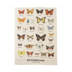 Prosop din bumbac Gift Republic Multi Butterflies
