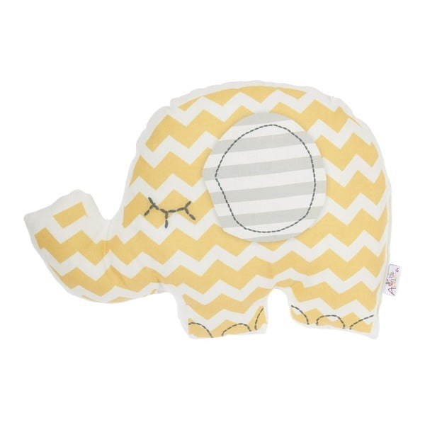 Pernă decorativă Apolena Pillow Toy Elephant, 34 x 24 cm, galben