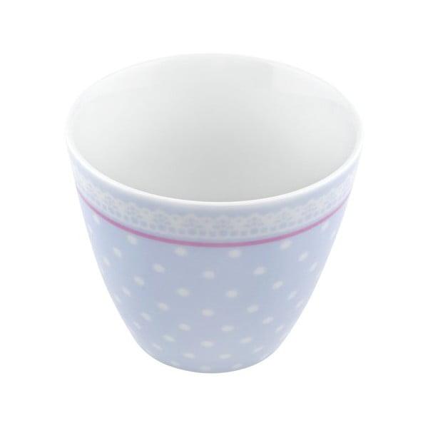 Porcelánový šálek Dots S, modrý 4 ks