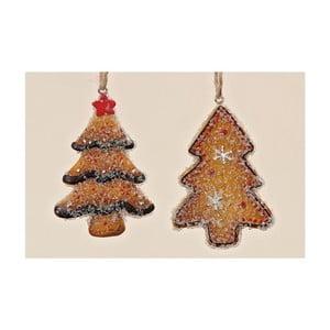 Sada 2 ks závěsných dekorací Christmas Tree
