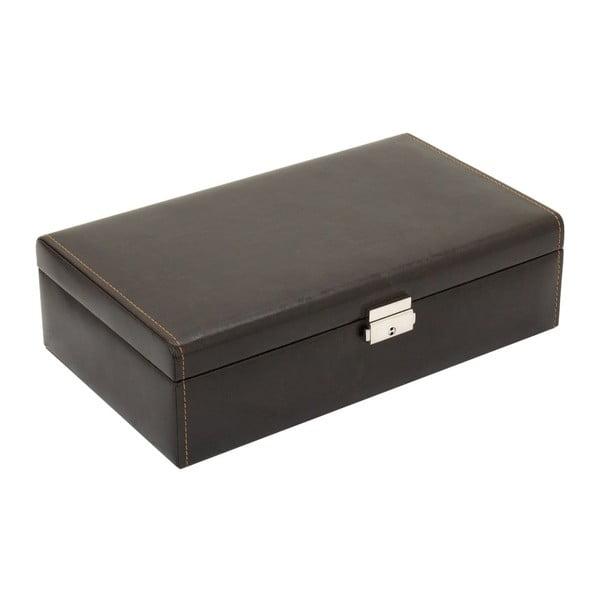 Hnědý box na 10 hodinek Friedrich Lederwaren Bond