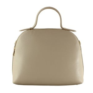 Béžová kožená kabelka Chicca Borse Turma