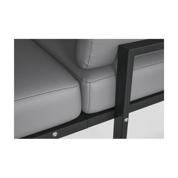Světle šedá rohová pohovka s odnímatelnou podnožkou Marie Claire Home