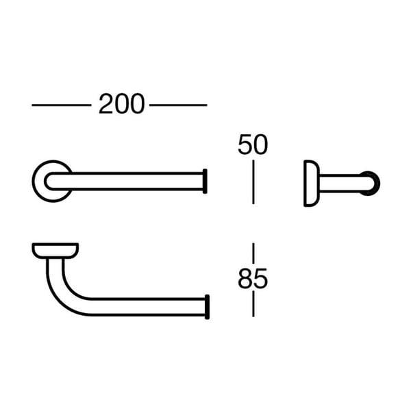 Držák na toaletní papír Polished Brass, 20x5x8,5 cm