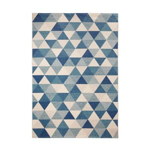 Covor Mint Rugs Diamond Triangle, 200 x 290 cm, albastru