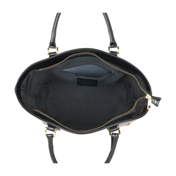 Kožená kabelka Ore Diece Sassuolo, černá