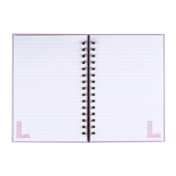 Zápisník Tri-Coastal Design Letter L, 120 stránek