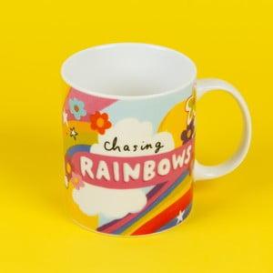 Keramický hrnek Happy News Chasing Rainbows, 400 ml