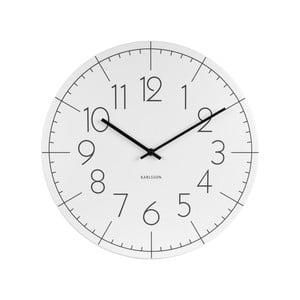 Bílé hodiny Present Time Blade Numbers
