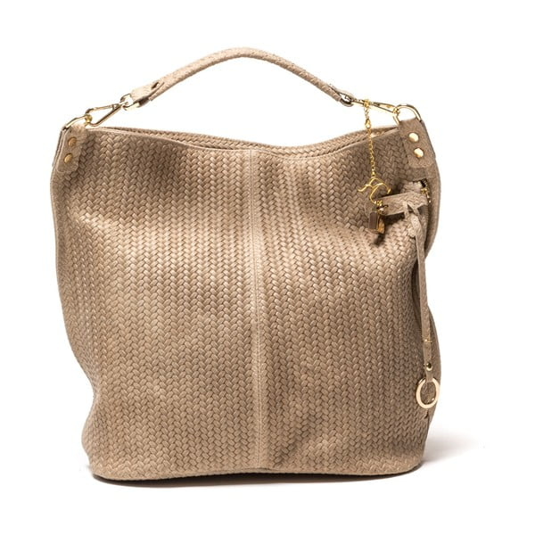 Kožená kabelka Bonita, šedohnědá