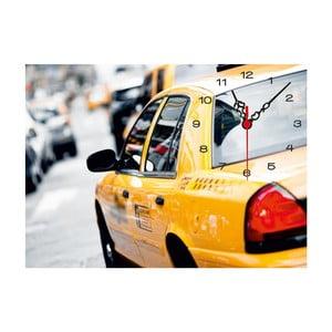 Obrazové hodiny Taxi, 60x60cm