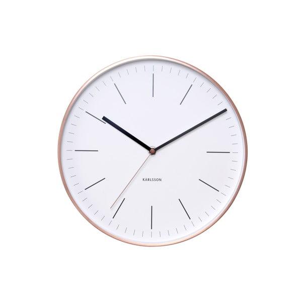 Bílé hodiny Present Time Minimal