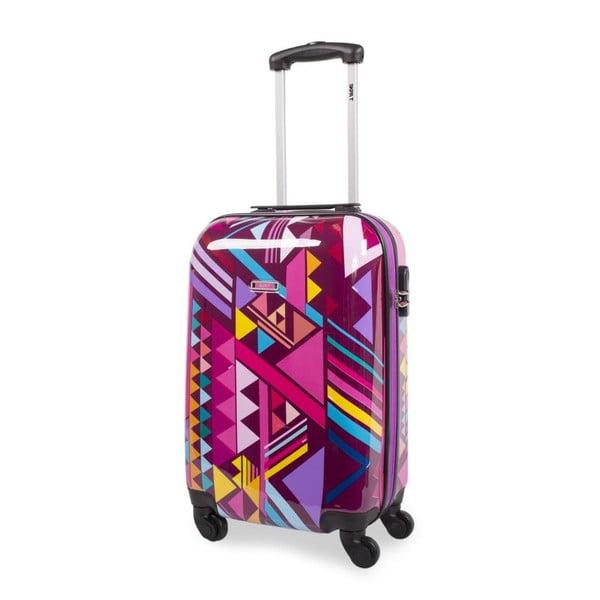 Sada 2 cestovních kufrů v růžové barvě SKPA-T