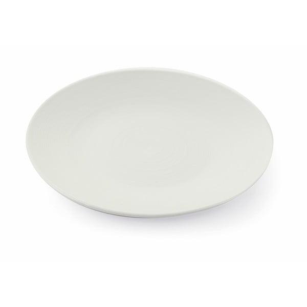 Grafite nagy fehér agyagkerámia tányér, 6 db - Villa d´Este
