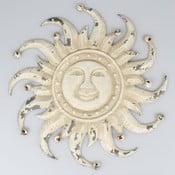 Bílá nástěnná kovová dekorace Dakls Sun