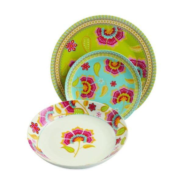 Sada porcelánových talířů Oriental, 18 ks