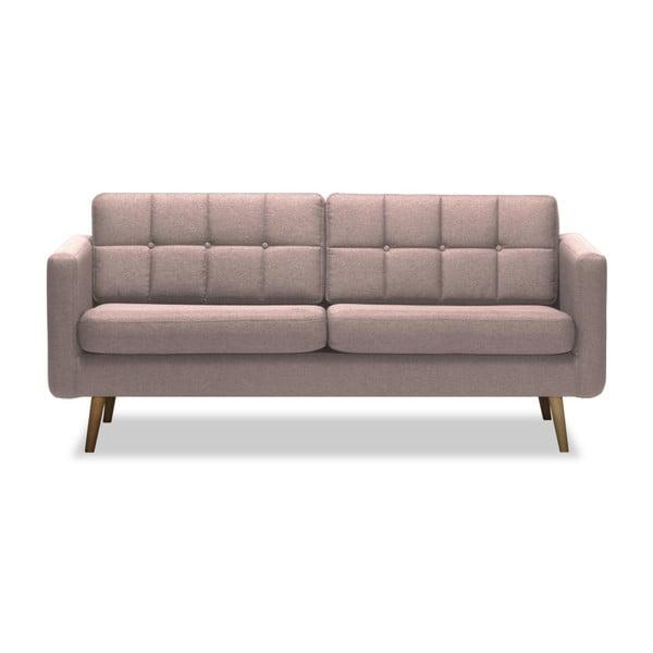Canapea cu 3 locuri Vivonita Magnus, roz deschis
