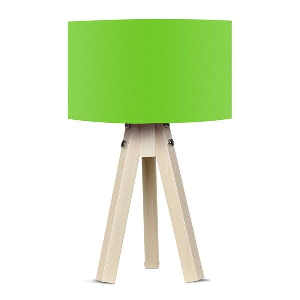 Naturel asztali lámpa zöld lámpabúrával - Kate Louise