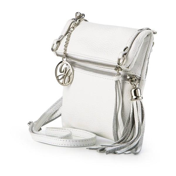 Kožená kabelka Roberto, bílá