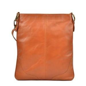 Koňakově hnědá kožená kabelka Mangotti Bags Marisa