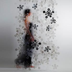 Bubble závěs, 100x200 cm, kouřová černá