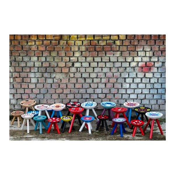 Ručně malovaná stolička Voila, 28 cm