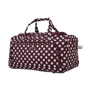 Fialové příruční zavazadlo Travel World, 36l
