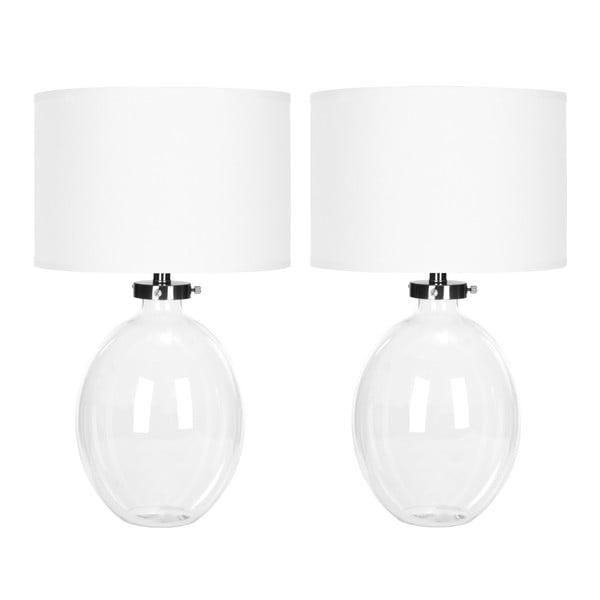 Sada 2 bílých stolních lamp Safavieh Alaina