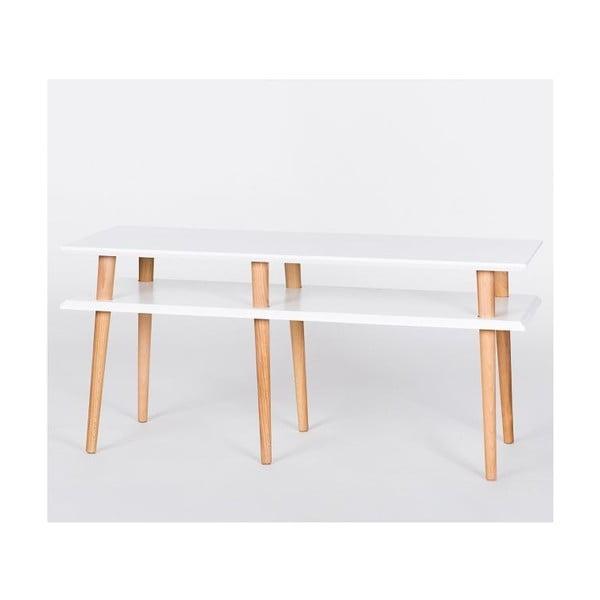Konferenční stolek Mugo White, 119 cm (šířka) a 45 cm (výška)