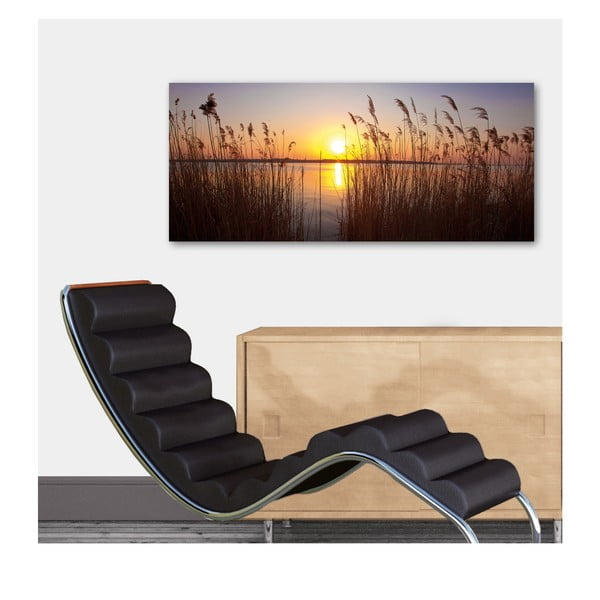 Dekorativní nástěnný panel Západ Slunce, 115x50 cm
