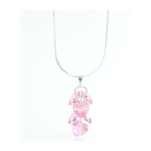 Náhrdelník Swarovski Hearts Rosa, 45 cm