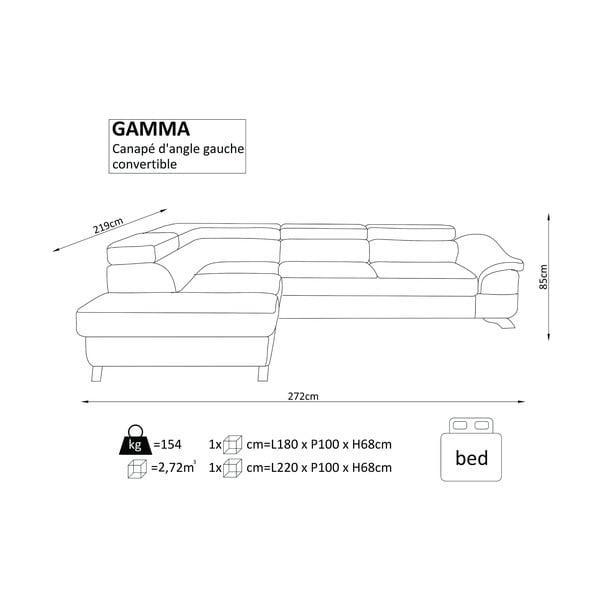 Červená rozkládací rohová pohovka koženskového vzhledu Windsor & Co Sofas Gamma, pravý roh