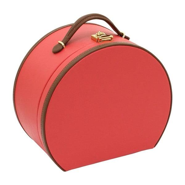 Červená šperkovnice/kosmetický kufřík Friedrich Lederwaren Ascot