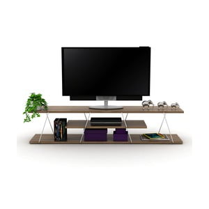 TV stolek s bílým detailem Rafevi Tars
