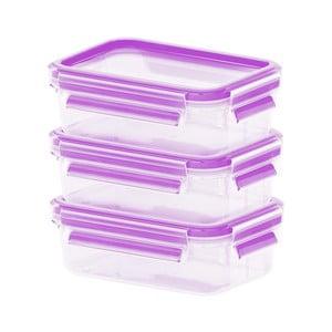 Sada 3 krabiček na jídlo Clip&Close Rapsberry, 3x0,55 l
