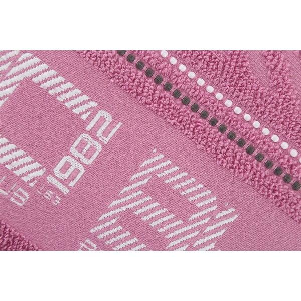 Pastelově růžový bavlněný ručník BHPC, 50x100 cm
