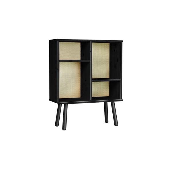 Komoda z borovicového dřeva v černé barvě Karup Design Kyabi