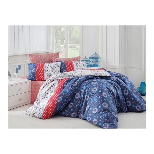 Lenjerie de pat cu cearșaf Spoty, 200 x 220 cm