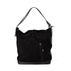 Kožená kabelka Stefie, černá