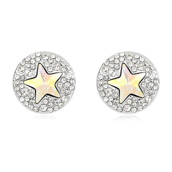 Kolczyki pozłacane białym złotem z kryształami Swarovski Elements Crystals Astra