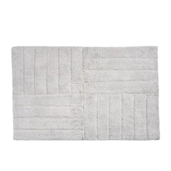 Světle šedá bavlněná koupelnová předložka Zone Classic, 50 x 80 cm