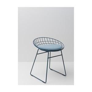 Modrá drátěná stolička s podsedákem Pastoe, 46 cm